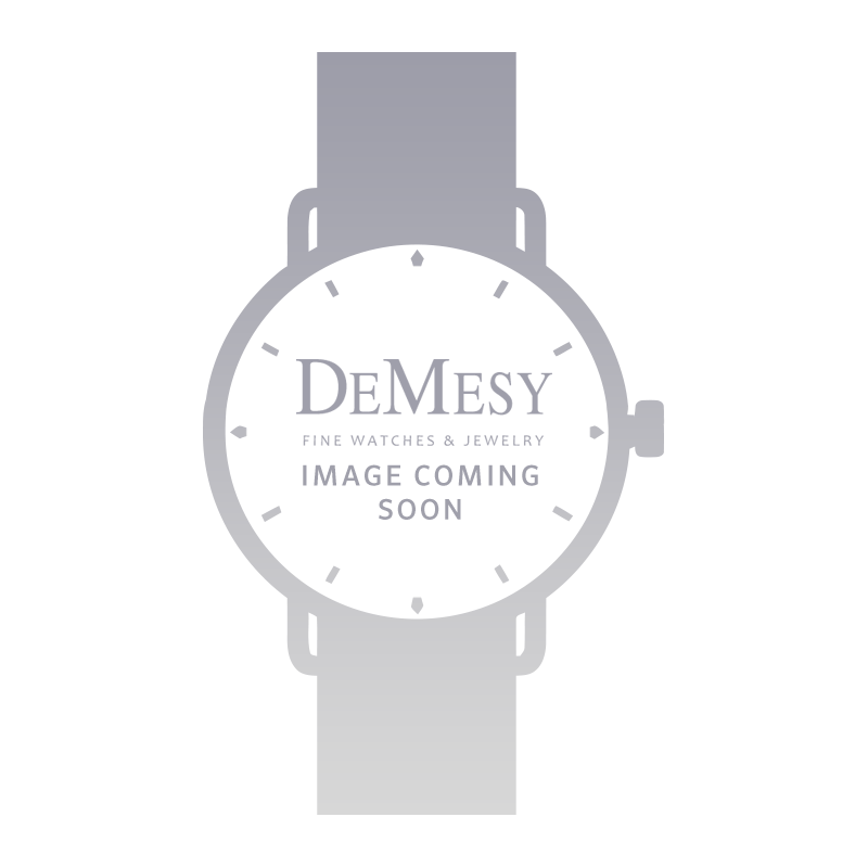 DeMesy Style: 54202 Rolex Orchid Ladies Vintage 18k White Gold Watch on Black Cord Band 9060