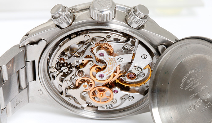 Inside of Rolex Watch