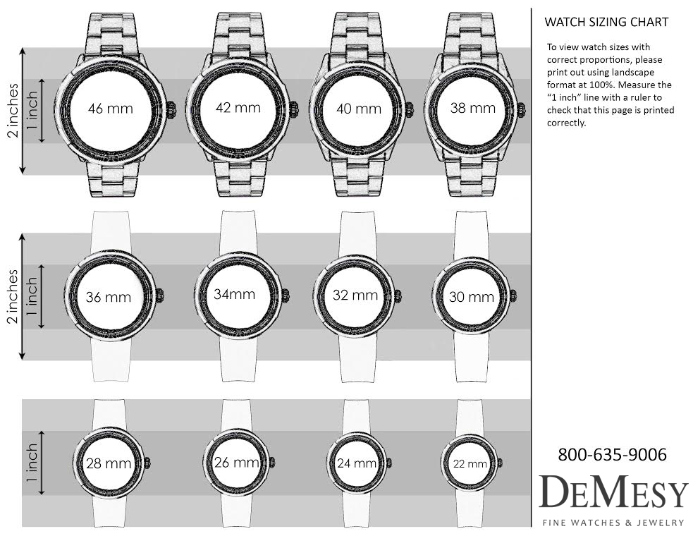 Watch Sizing Guide from Demesy.com