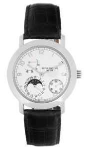 PATEK PHILIPPE MOON PHASE POWER RESERVE MEN'S WHITE GOLD WATCH REF. 5055 G OR 5055G