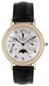 breguet classique quantieme perpetual men's 18k yellow gold watch